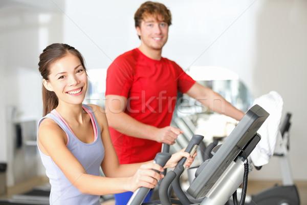 Fitness center people Stock photo © Maridav