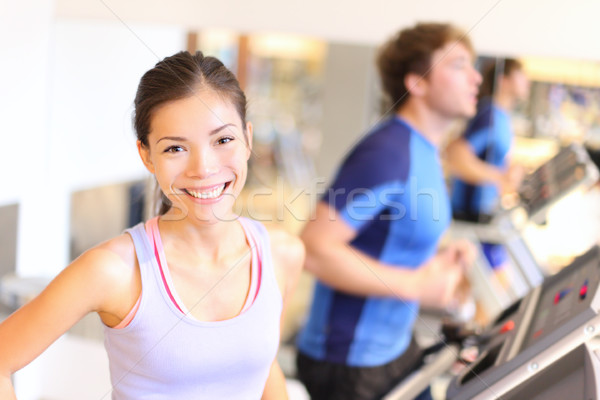 Fitness people portrait in gym Stock photo © Maridav