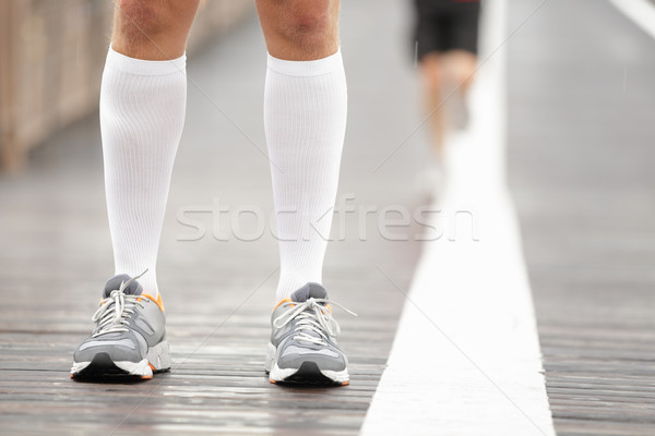 Running shoes closeup Stock photo © Maridav