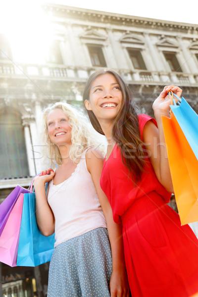 Two shopping women in Venice, Italy Stock photo © Maridav