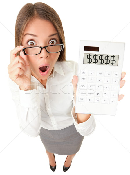 Business woman accountant shocked Stock photo © Maridav
