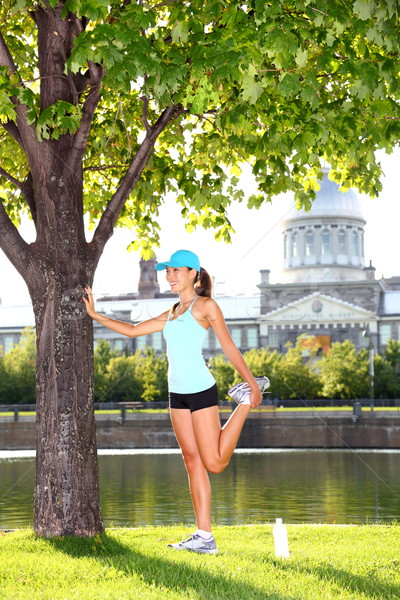 Stockfoto: Vrouw · runner · Montreal · jogging · training