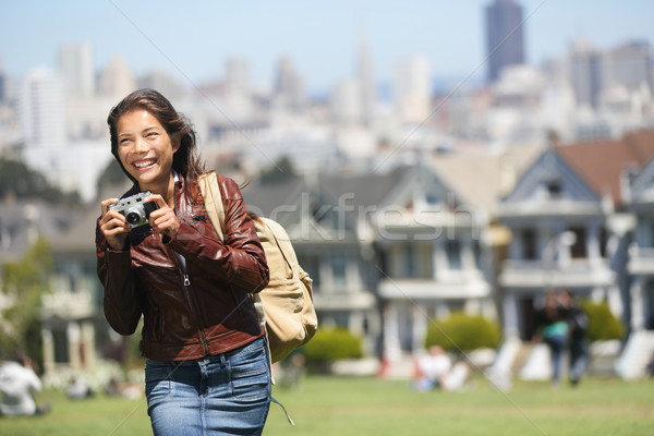 Stock photo: Alamo Square San Francisco Tourist