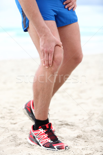 Knee pain - runner injury Stock photo © Maridav