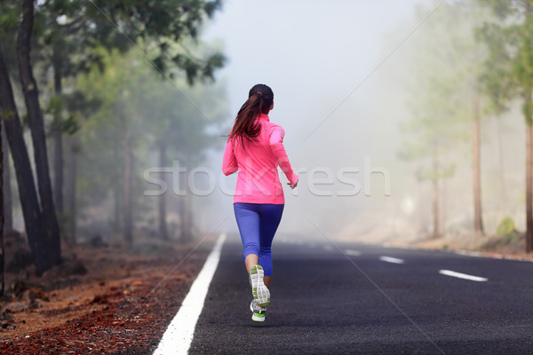 Healthy running runner woman workout Stock photo © Maridav