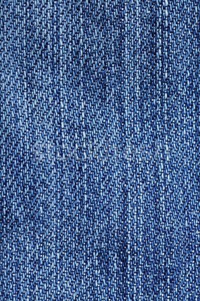 Jeans fabric closeup - blue denim weave texture Stock photo © Maridav