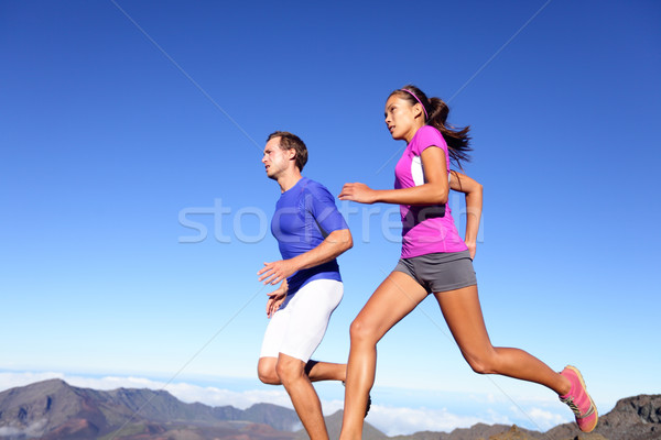 Running people - Runners training outdoor Stock photo © Maridav