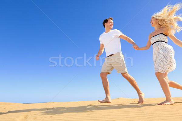 Stockfoto: Gelukkig · paar · romantische · relatie