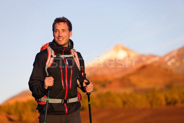 Сток-фото: турист · человека · походов · жизни · здорового · активный