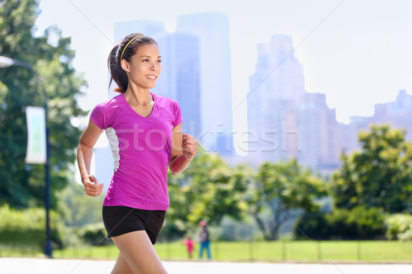 Courir femme Central Park New York City urbaine Photo stock © Maridav