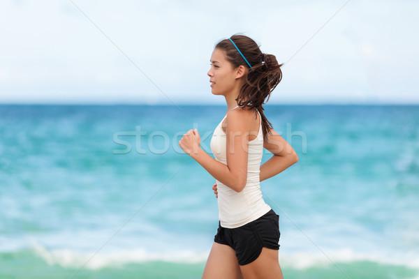 Fit sport athlete running woman runner jogging Stock photo © Maridav