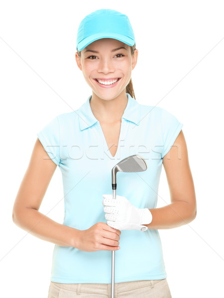 Femme souriant golf club Photo stock © Maridav