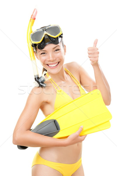 Snorkeling vacation woman isolated Stock photo © Maridav