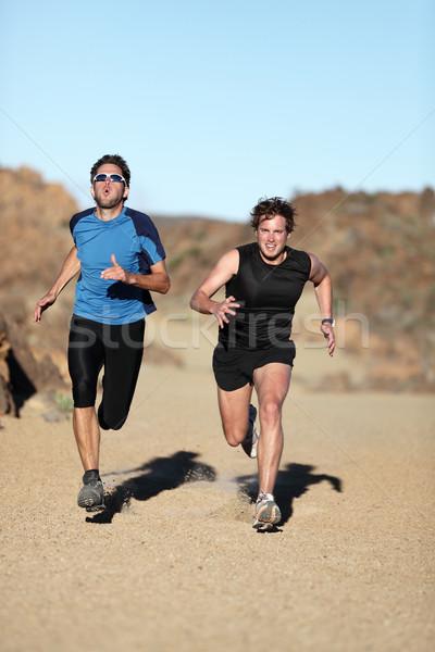 Runners - men sprinting Stock photo © Maridav