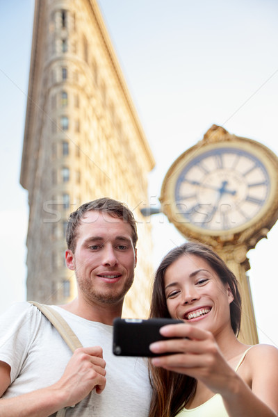 Travel couple taking selfie in NYC New York City Stock photo © Maridav
