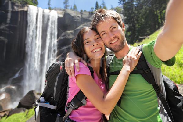 ハイカー カップル ヨセミテ 滝 ヨセミテ国立公園 ストックフォト © Maridav