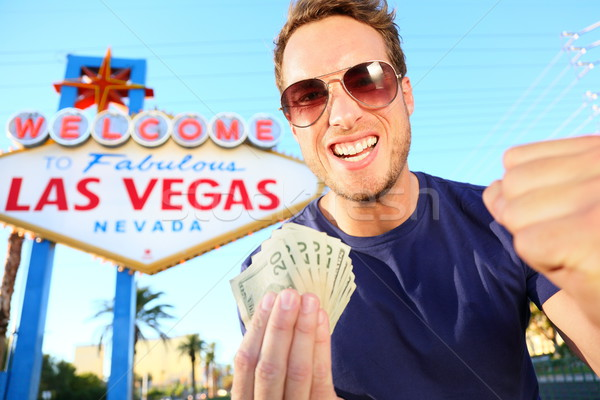 Las Vegas man winning money Stock photo © Maridav