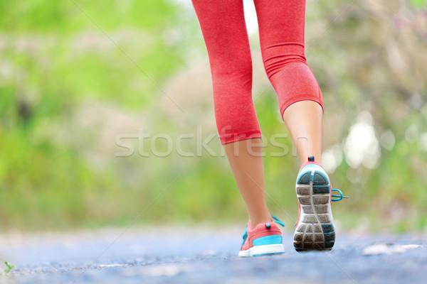 ストックフォト: 女性 · アスレチック · 脚 · ジョギング · を実行して · ジョグ