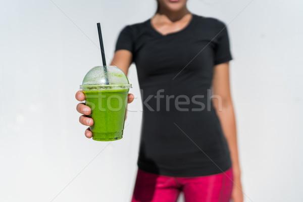 Stockfoto: Vrouw · drinken · gezond · eten · lifestyle