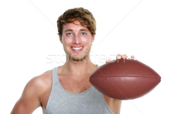 Amerikai futball férfi izolált lezser mutat Stock fotó © Maridav