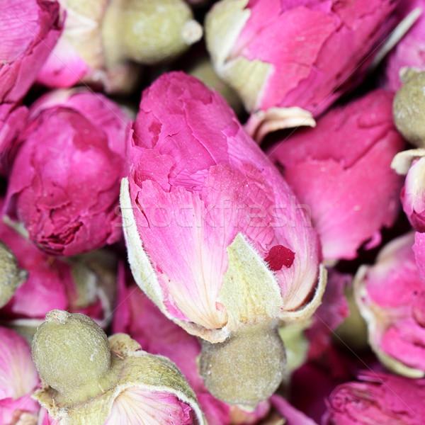 Background texture closeup of dried rosebuds Stock photo © Maridav