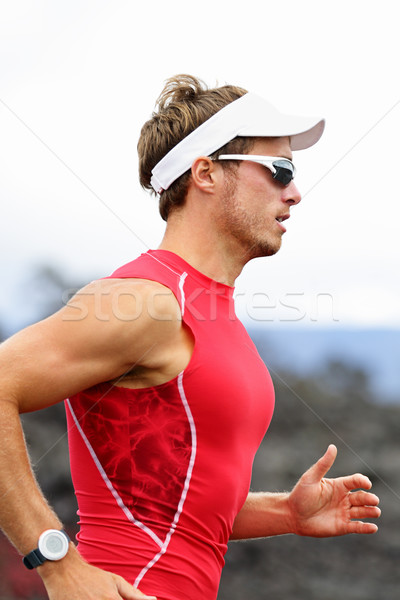 Running triathlon athlete Stock photo © Maridav