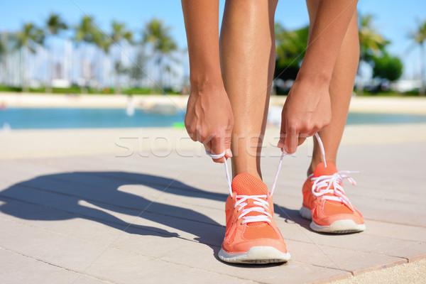 Sport fitness oefening lifestyle lopen runner Stockfoto © Maridav