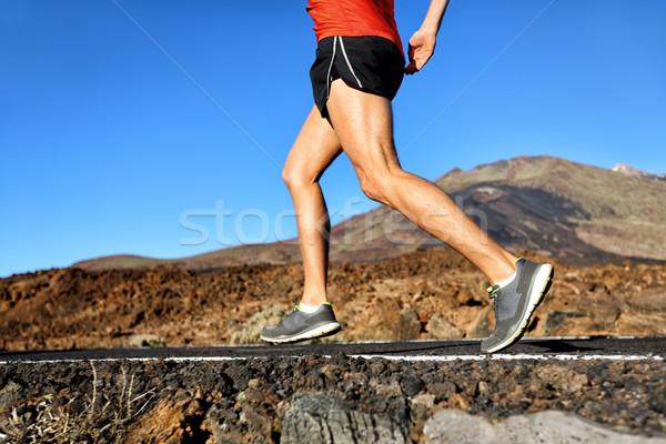 を実行して 選手 男 ランナー ジョギング 自然 ストックフォト © Maridav