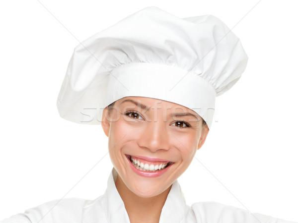 Nő szakács szakács pék portré izolált Stock fotó © Maridav