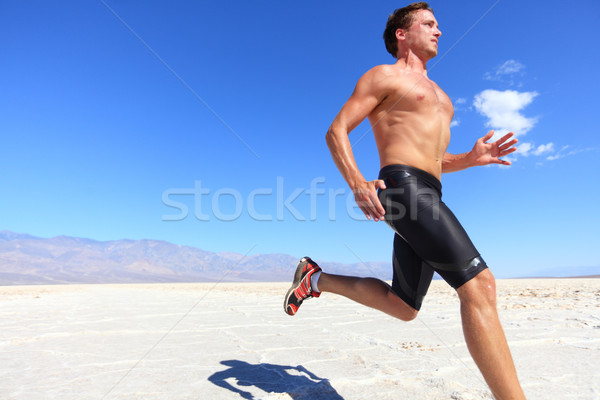 Stock photo: Athlete running sport - fitness runner in desert