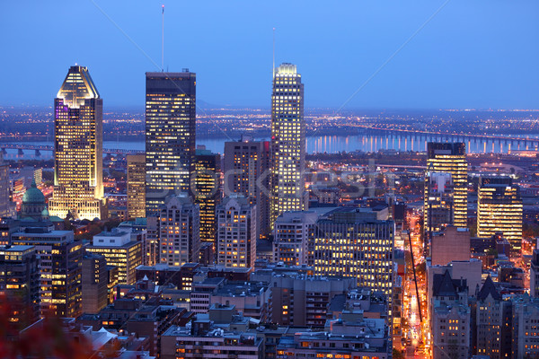 Montreal skyline by night Stock photo © Maridav