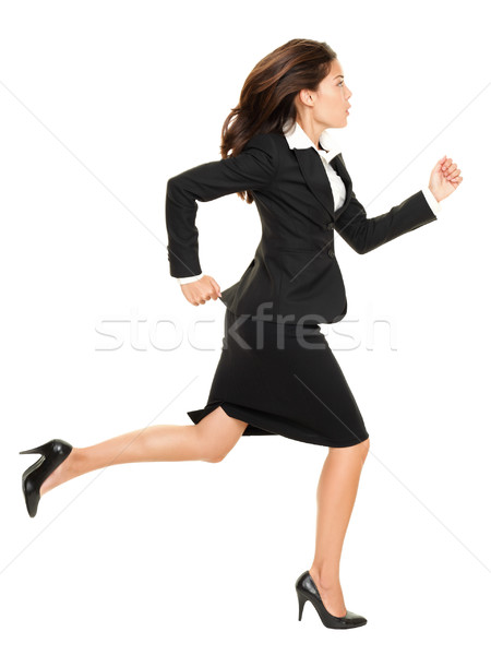 Business woman running Stock photo © Maridav