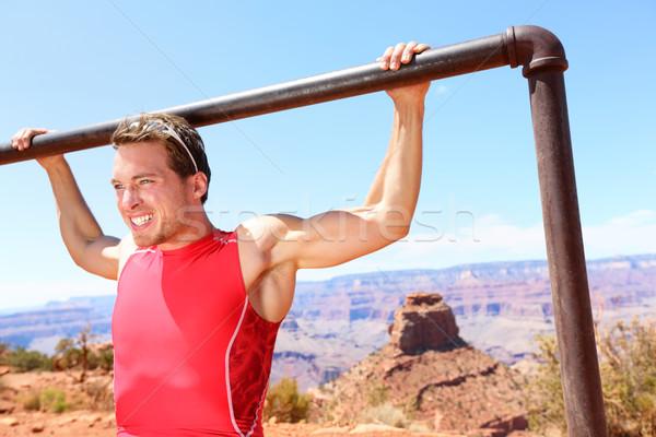 Atleet natuur fitness man Stockfoto © Maridav
