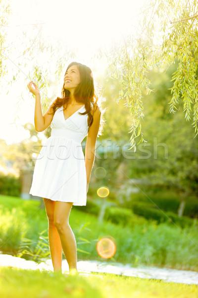 Spring woman in summer dress Stock photo © Maridav