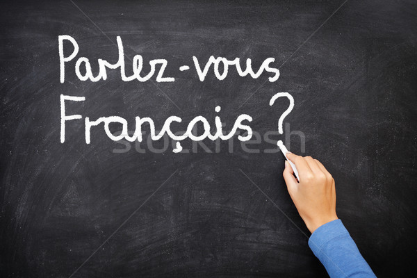 Photo stock: Français · apprentissage · langue · enseignants · étudiant · écrit