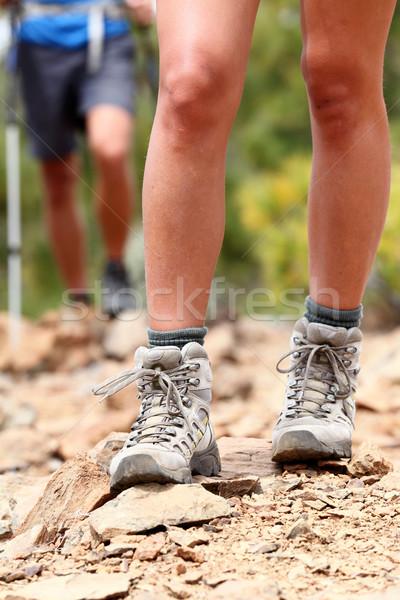 Hiker - Hiking shoes Stock photo © Maridav