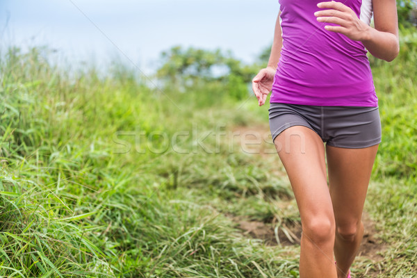 Healthy active woman runner feminine care running Stock photo © Maridav