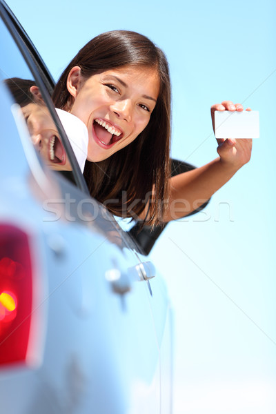 Drivers license car woman Stock photo © Maridav