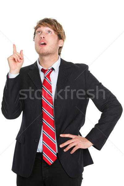 Businessman having an idea pointing up Stock photo © Maridav