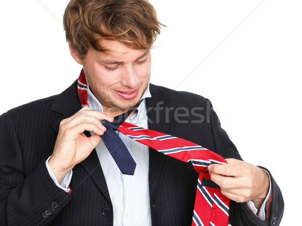 ties - man can not tie his tie Stock photo © Maridav