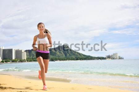 Bikini woman relaxing on Puerto Rico beach Stock photo © Maridav