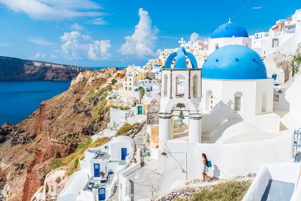 ヨーロッパ サントリーニ 旅行 観光 先 ギリシャ語 ストックフォト © Maridav