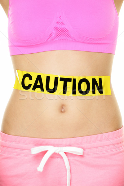 Stock photo: Stomach health concept showing woman belly