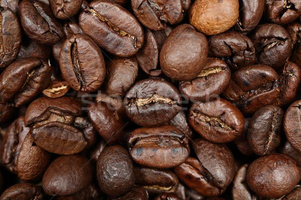 Coffee beans texture background closeup Stock photo © Maridav