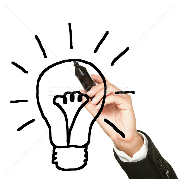 Light bulb business idea Stock photo © Maridav