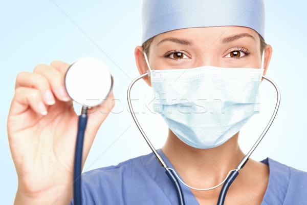 ストックフォト: 医療 · 医師 · 小さな · 外科医 · 聴診器