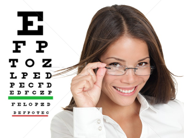Optometrist or optician with eyewear glasses Stock photo © Maridav