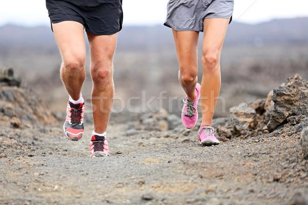 Parcours lopen lopers schoenen benen Stockfoto © Maridav
