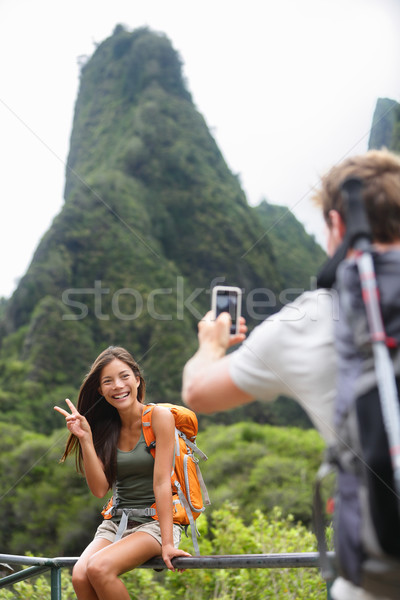 Stock fotó: Pár · elvesz · fotók · szórakozás · életstílus · Hawaii