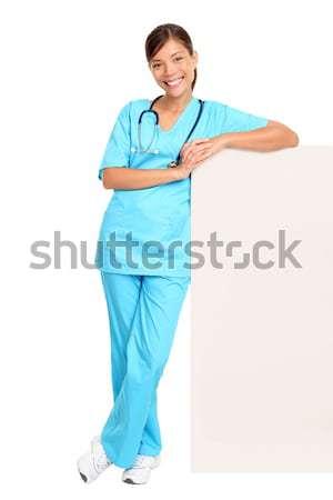 Сток-фото: медицинской · женщину · медсестры · Постоянный · изолированный · молодые